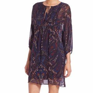 Joie Silk Chiffon Paisley Dress